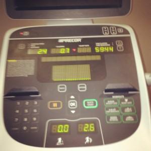 Terrible treadmill photo - but hey, I took it!