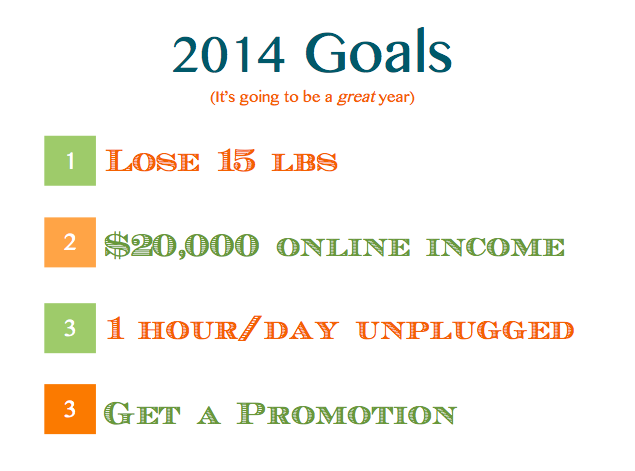 good goals for 2014
