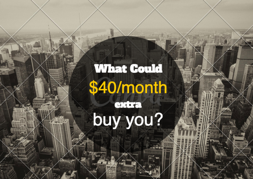 what can i buy for $40 month